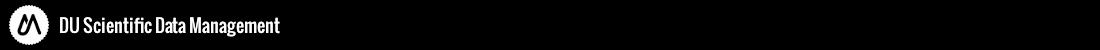 DU Scientific Data Management (SDM) Logo